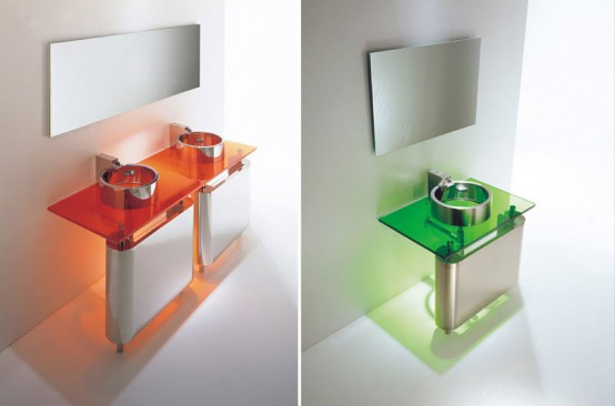 Minimalist Washstand For Small Bathroom Rain By Axolo