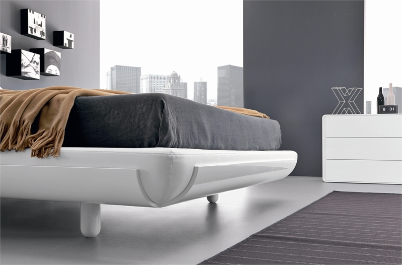 minimalist bed for modern bedroom fusion by presotto