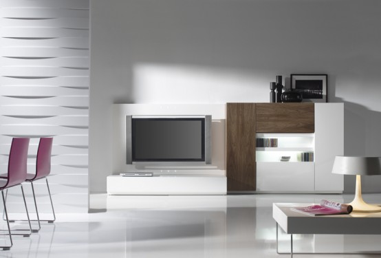 Minimalist furniture for modern living room day from for Room muebles