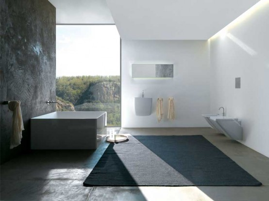 Minimalist Square Bathtub For Modern Bathroom by Colacril
