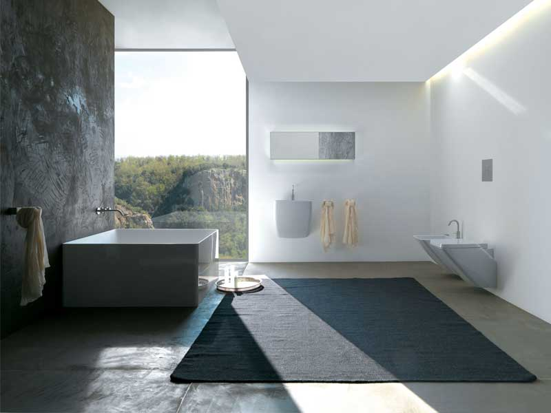 Minimalist Square Bathtub For Modern Bathroom by Colacril