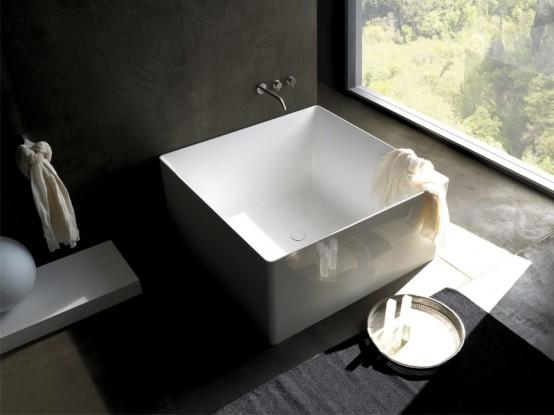 Fresh Minimalist Square Bathtub By Colacril
