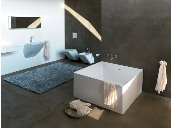 Beautiful Minimalist Square Bathtub By Colacril