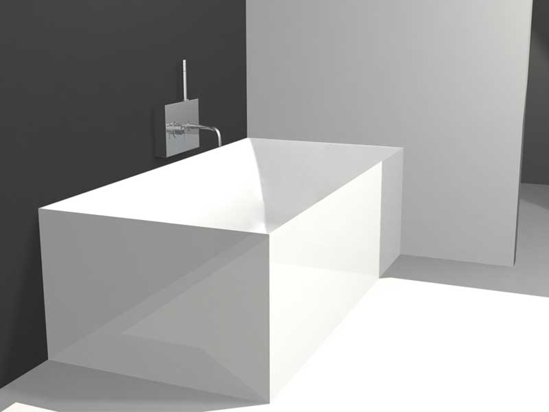 Minimalist square bathtub for modern bathroom by colacril for Modern bathroom with tub