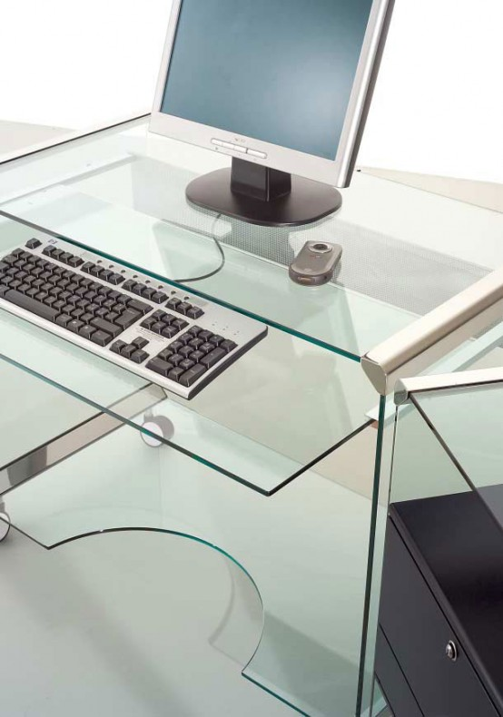 Mobile Glass Workstation Movie Office By Gallotti&Radice