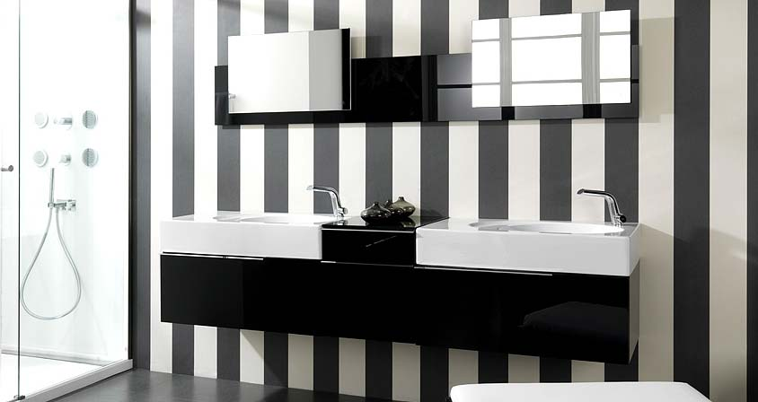 Modern Black and White Bathroom Design from Noken | DigsDigs