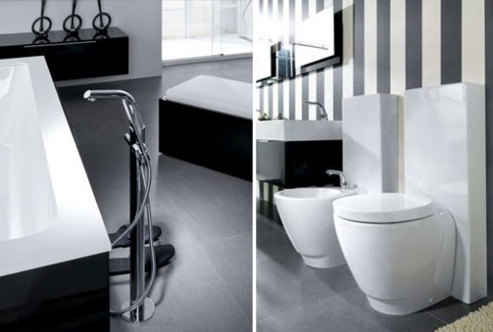 Modern Black And White Bathroom Design From Noken
