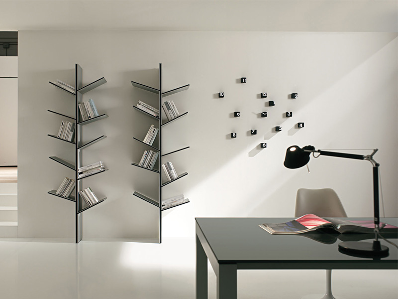 Awesome Modern Bookcase For House Improvement : Unique House: Modern Bookshelves Inspired by the Nature – Fargus