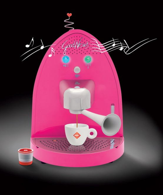 Modern Bright Coffee Machines with Integrated Radio – Good News