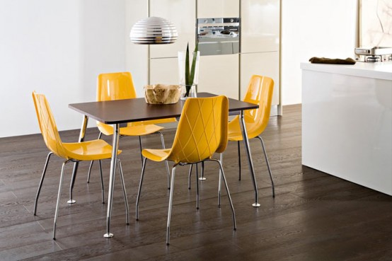 15 Modern Bright Kitchen Chairs From Domitalia Digsdigs