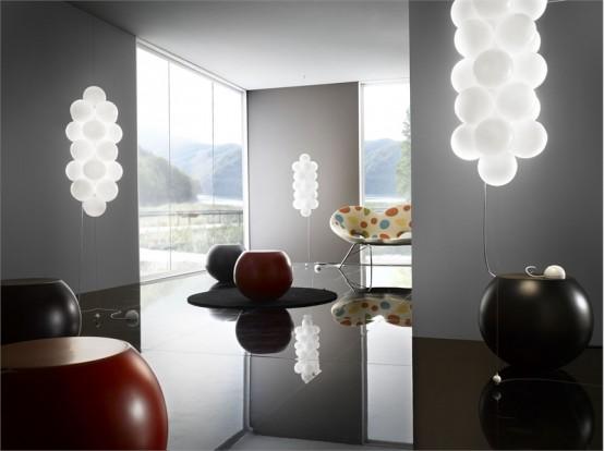 Modern Glass Ceiling Lamp – Babol de Majo Illuminazione