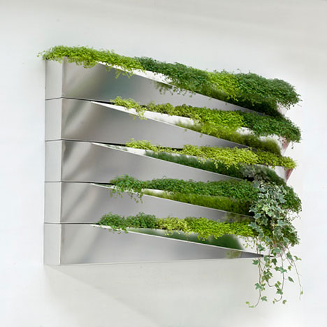 Modern green wall decoration grass mirror by h2o - Wall mirror modern design ...