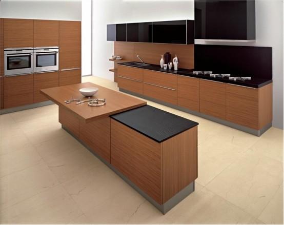 Modern Kitchen In Wooden Finish