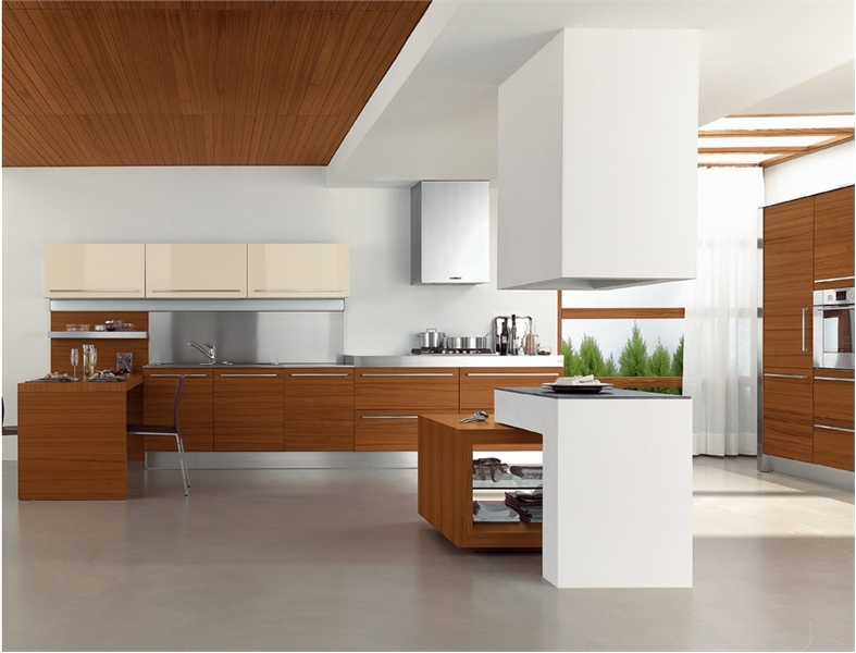 25 modern kitchens in wooden finish digsdigs for Modern kitchen designs gallery