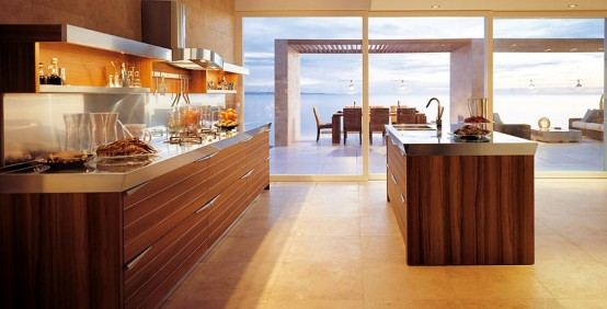 25 Modern Kitchens In Wooden Finish | DigsDigs