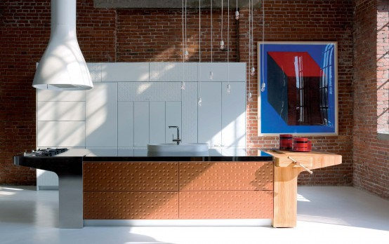Modern Kitchen With Original Finish Mesa By Schiffini