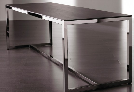 Modern Minimalist Dining Table Irons By Meridiani