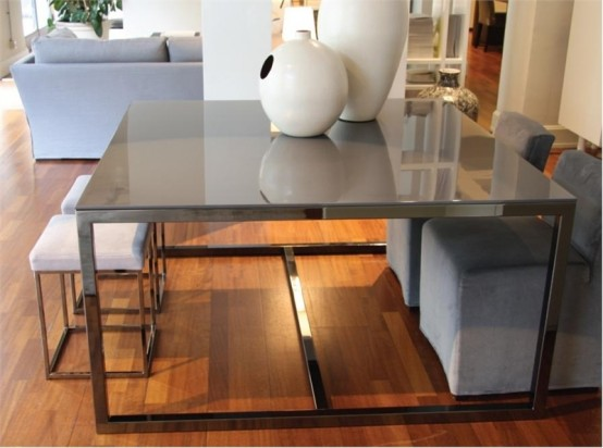 Modern Minimalist Dining Table Irons By Meridiani Digsdigs