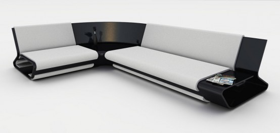 Modern Modular Sofa Slim By Stephane Perruchon
