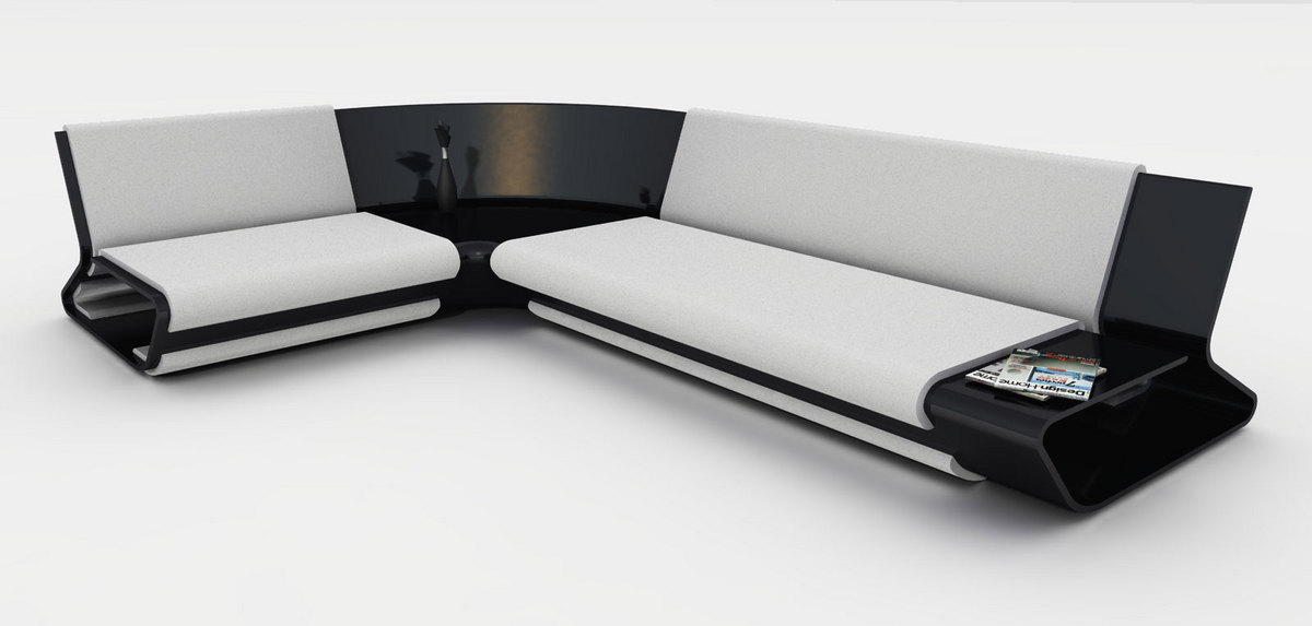 Modern Modular Sofa – Slim by Stephane Perruchon