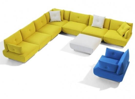 Modern Modular Sofa and Armchair Design