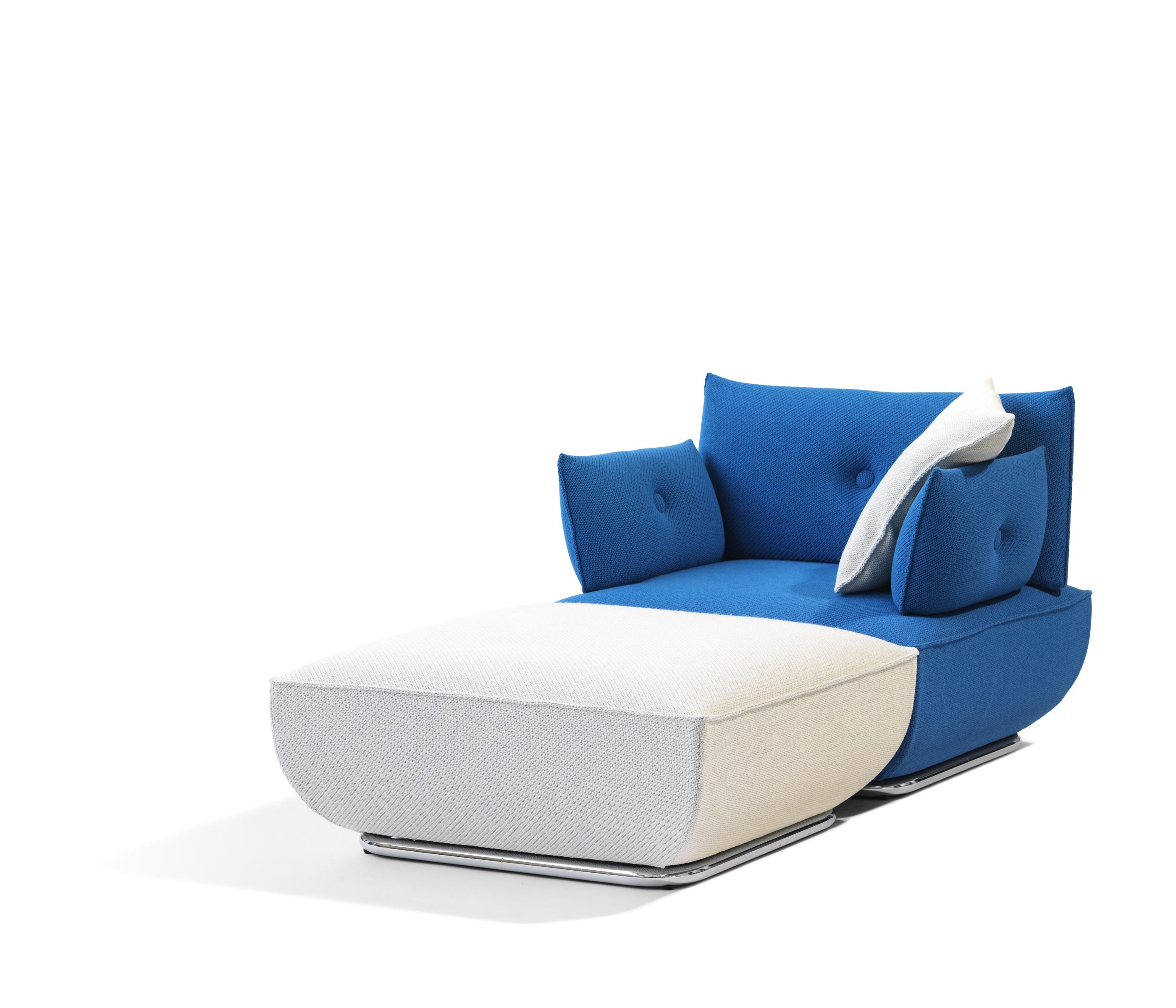 blå soffa