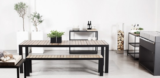 Modern Outdoor Dinner Set from Röshults