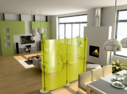 Modern Room Dividers Fluowall By Paxton