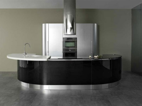 Modern Rounded Kitchen Volare By Aran Cucine