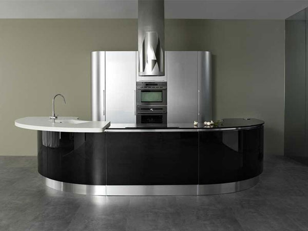 Modern Rounded Kitchen – Volare by Aran Cucine
