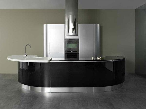 Modern Rounded Kitchen Volare By Aran Cucine