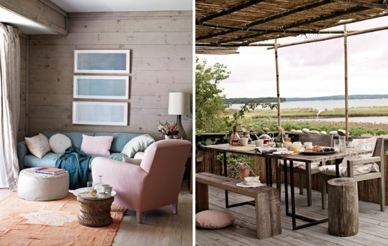 Modern Scandinavian Beach House Decorated With Washed Wood