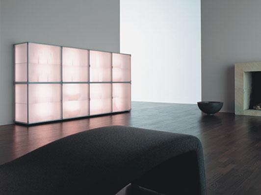 Modern Storage Cabinets with Cool Illumination – Eo by Interluebke