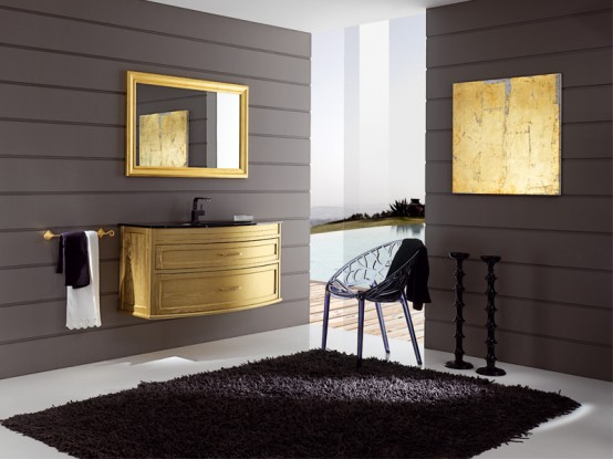 Modern and Elegant Gold Bathroom Furniture – Mignon by Eban