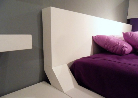 Modern Bedroom Design With Original Wall Shelves