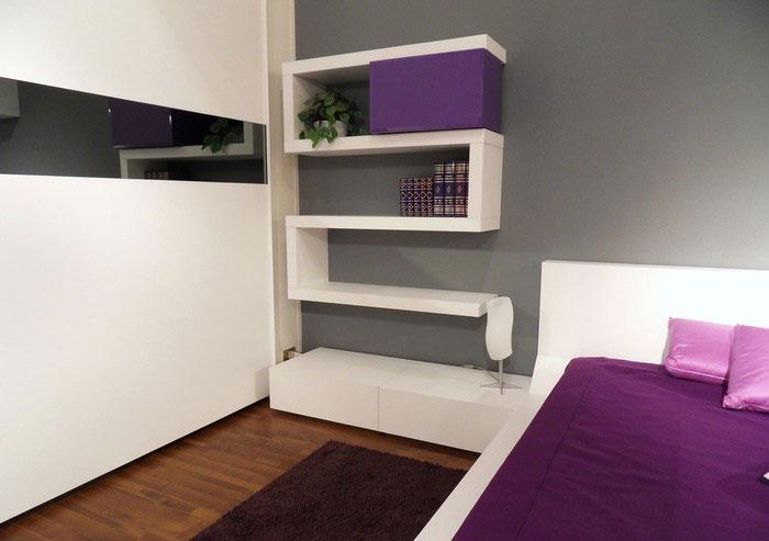 Modern Wall Shelf Ideas: Modern Bedroom Design With Unusual Wall Shelves