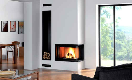 modern built in fireplaces by rocal digsdigs. Black Bedroom Furniture Sets. Home Design Ideas