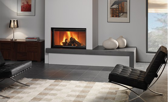 Modern Built-in Fireplaces By Rocal