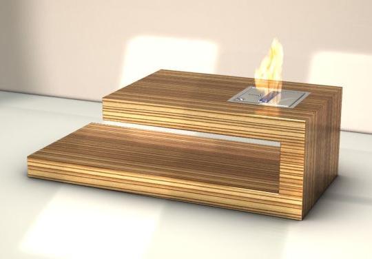 Modern coffee table with built in fireplace fire coffee - Mesas de centro modernas para sala ...