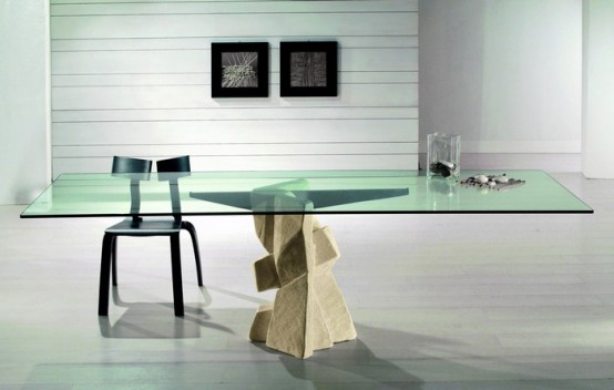Modern Dining Table With Stone Base Vicenza Shapes From