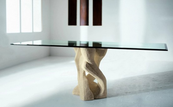 Modern Dining Table With Stone Base – Vicenza Shapes From Diotti A&F