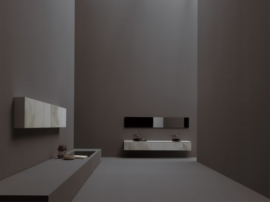 Modern Furniture For Kitchen And Bathroom White Flowers By Meson's Cucine