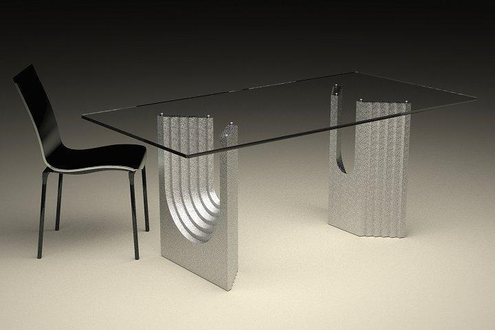 Modern Glass Top Coffee And Dining Tables With Colored