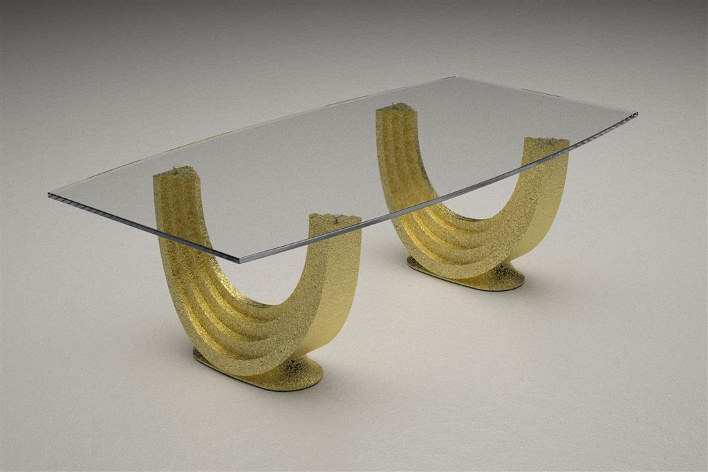 Modern Glass Top Coffee And Dining Tables With Colored Bases