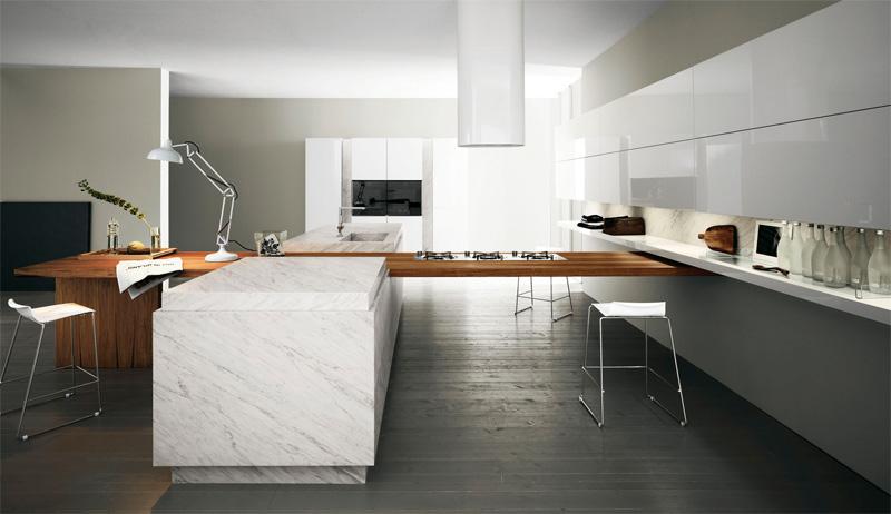 Modern Kitchen With Luxury Wooden Finish Yara Vip By Cesar