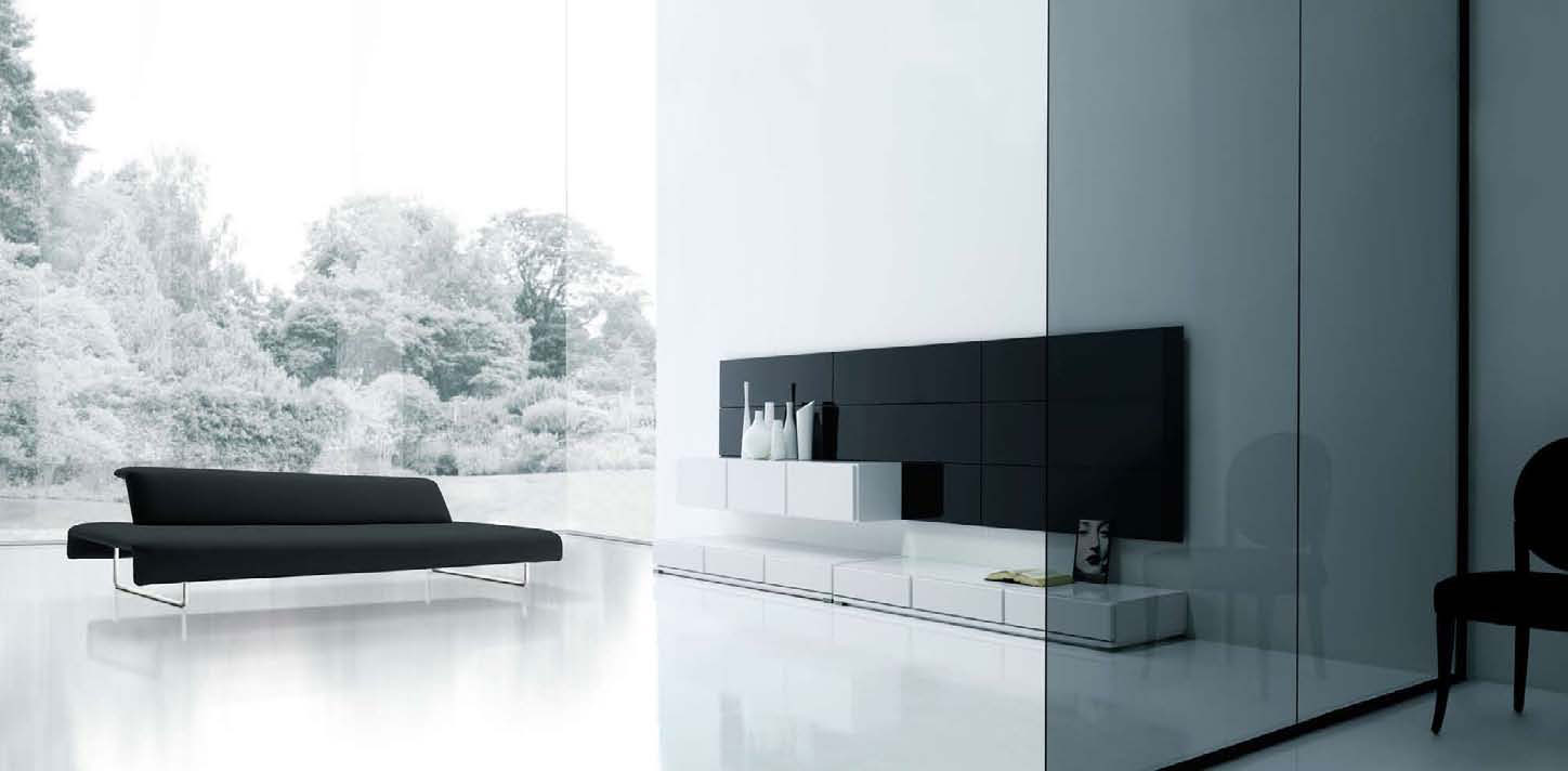 Modern minimalist living room designs by mobilfresno White and black modern living room