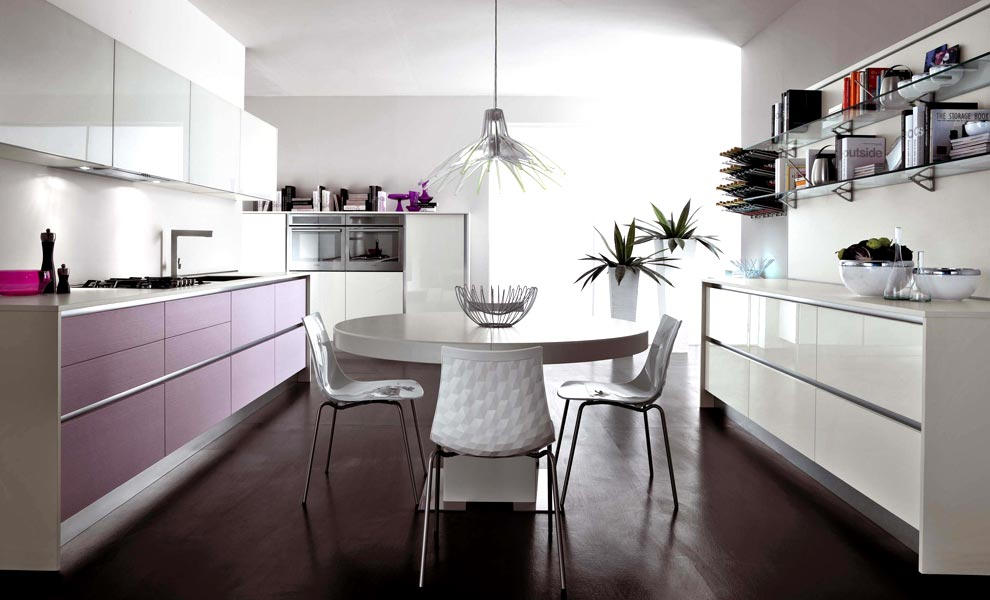 B-House Home Design: Modern Violet And Pink Kitchen by Cucine Lube