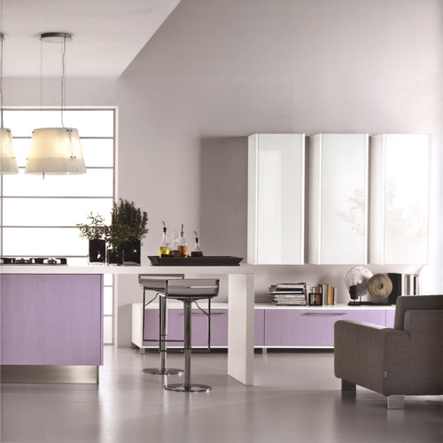 Modern Violet And Pink Kitchen by Cucine Lube - DigsDigs