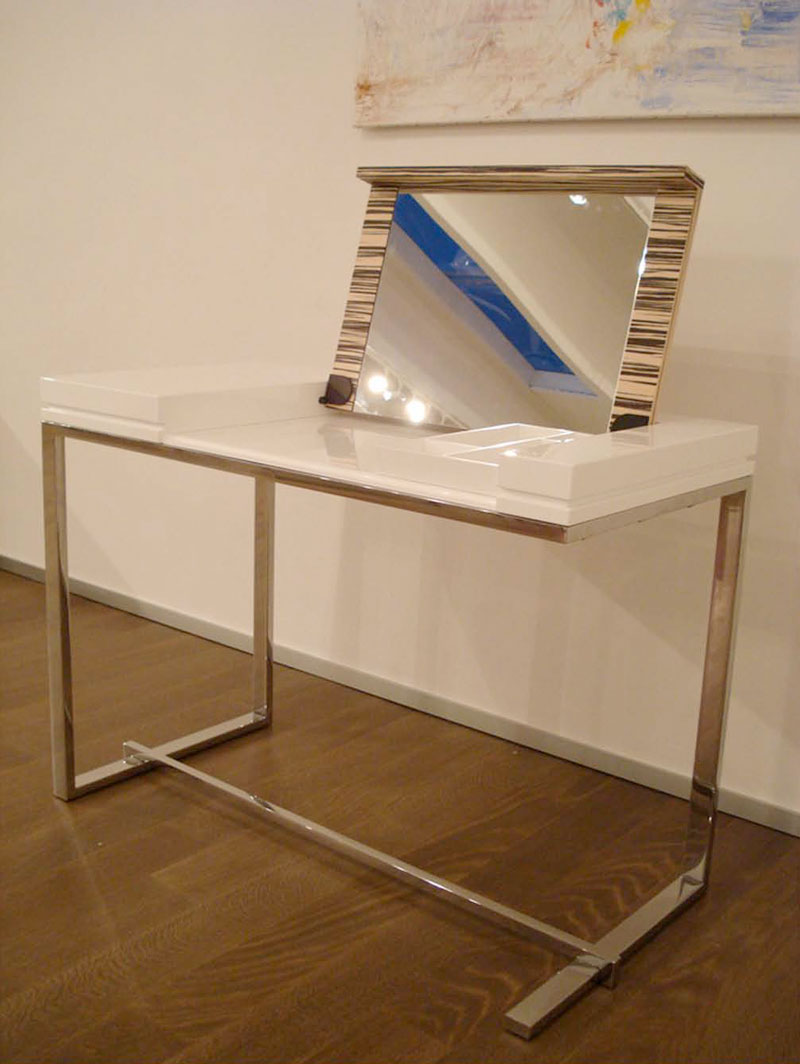 Modern white dressing table melina by sabinoaprile for Table design ideas