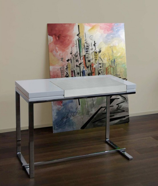 Modern White Dressing Table Melina By Sabinoaprile